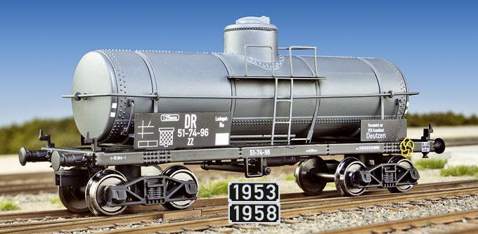 Kesselwagen ohne Heizeinrichtung ZZ der amerikanischen Bauart TP von Makette; Foto: jsk