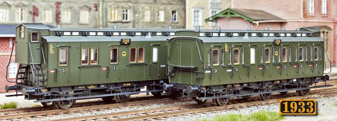 Preußische Abteilwagen von Brawa